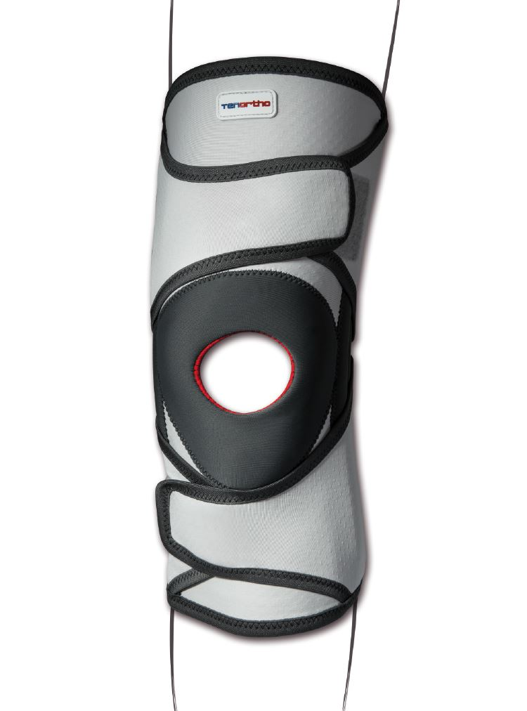 Ginocchiera tubolare con stecche a spirale e stabilizzatore rotuleo GENUTONIC® – TO3115