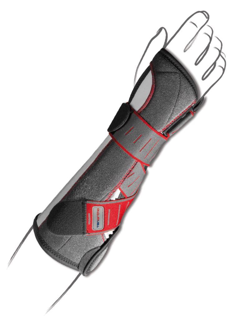 Polsiera steccata ambidestra con fibra di carbonio – Manutonic Long TO2217